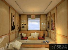 日式装修小户型客厅榻榻米图片