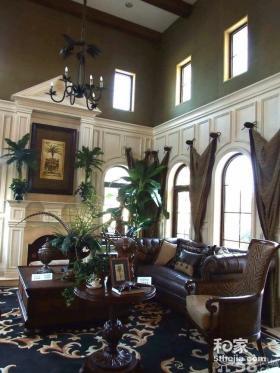 美式独栋别墅样板间装修设计实景图