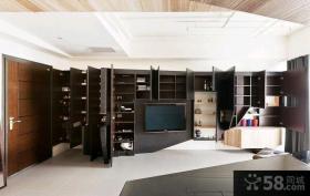 宜家设计装修风格时尚客厅电视背景墙图片