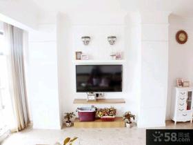 简欧风格客厅电视背景墙装修效果图2015