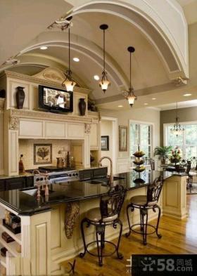 欧式豪华厨房装修效果图大全
