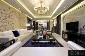 现代新古典风格三室两厅卧室装修效果图大全2014图片