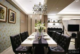 现代家装室内豪华餐厅效果图