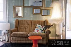 35平小户型客厅沙发装修效果图大全2015