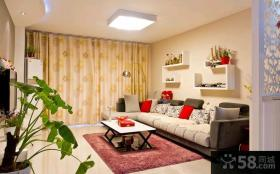 现代风格70平米小户型客厅装修效果图片