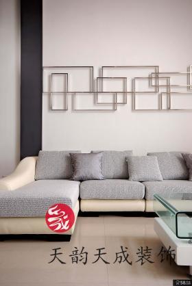 现代简约风格客厅沙发背景墙造型效果图