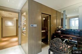 中式风格室内玄关墙面设计