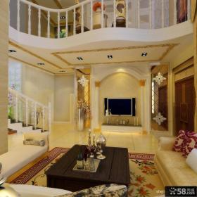 欧式别墅奢华客厅电视背景墙装修效果图欣赏