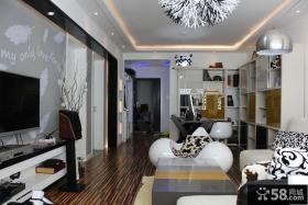 现代简约客厅电视背景墙装饰设计图
