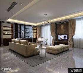 现代风格客厅瓷砖电视背景墙装修设计图片