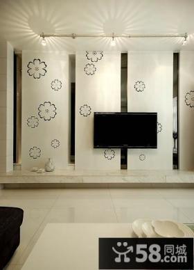 简单最新客厅电视背景墙效果图