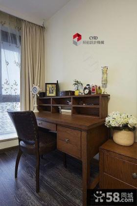 美式风格别墅书房实木家具图片