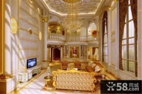 欧式奢华别墅客厅装修效果图大全