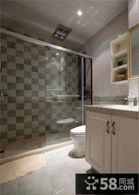 简约美式卫生间装潢案例