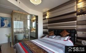 卧室床头软包皮背景墙设计效果图欣赏