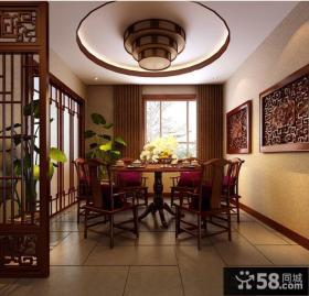 中式饭店装修效果图片