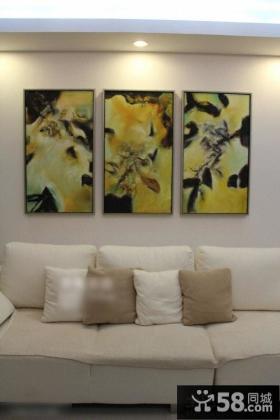 优质简约客厅装饰画图片欣赏