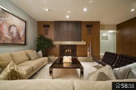 简约美式小户型客厅装修效果图