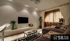简约风格室内客厅电视背景墙图片