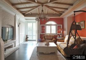 乡村美式风格别墅设计装修效果图