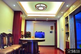 中式风格装修室内餐厅吊顶装修
