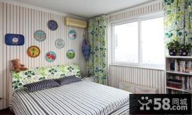 简约主卧室壁纸装修效果图大全2013图片