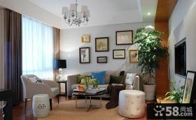 80后两口之家 小户型客厅装修效果图大全2014图片