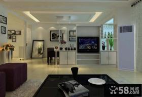 5万打造现代简约室内客厅吊顶装修效果图大全2014图片