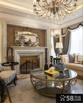 欧美风格豪华别墅客厅装修效果图