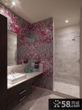 天通苑北一区复式楼浪漫的卫生间瓷砖效果图