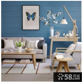 时尚家居装修效果图 蓝色客厅装修