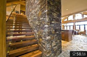 2015美式家装设计楼梯效果图大全