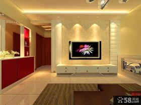 田园风格三居室客厅装修效果图大全2014图片