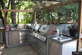 欧美风格阳台厨房装修效果图