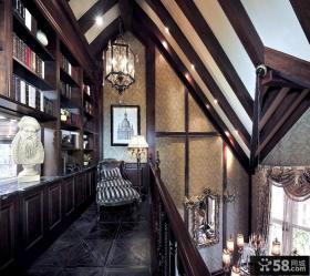 美式古典家装阁楼图片欣赏大全