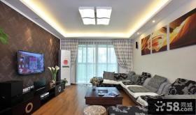 现代客厅装修壁纸电视背景墙效果图