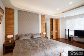美式现代风格别墅卧室设计图片