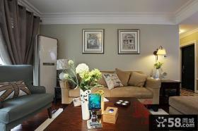 现代美式风格客厅装饰画效果图大全