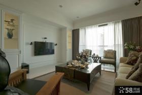 休闲美式风格两室一厅装修效果图
