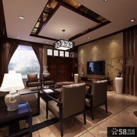 中式客厅吊顶图片