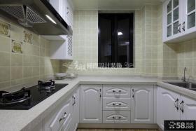 家庭厨房欧式橱柜装修效果图片