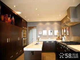 27万打造奢华欧式风格复式厨房橱柜装修效果图大全2012图片