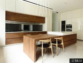简欧风格实木装修厨房图片