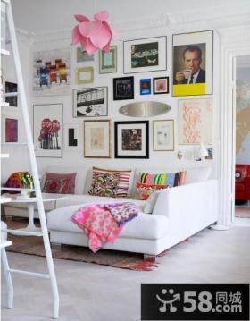 简约客厅室内装饰画图片
