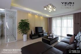 现代简约两室两厅客厅电视背景墙装修效果图片