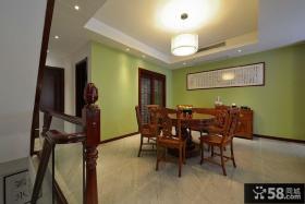 清新古朴中式餐厅装潢设计