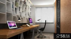 极简设计别墅室内书房装饰效果图欣赏