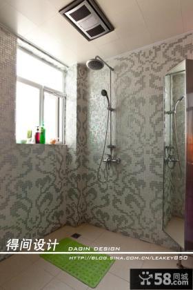 现代风格小卫间墙面瓷砖装修效果图