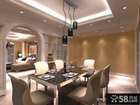 餐厅吊顶装修效果图设计