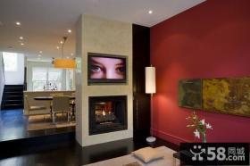 80㎡小户型婚房装修 现代风格客厅飘窗效果图欣赏